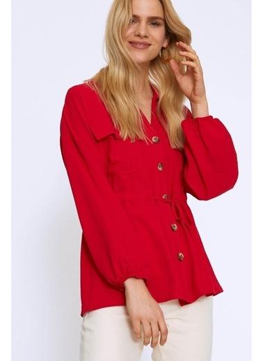 Quzu Quzu Kırmızı Bluz Kırmızı